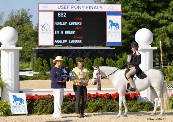In A Dream and Ashley Lamers Champion at 2017 USEF Pony Finals